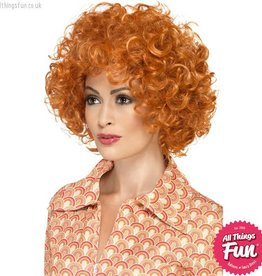 Smiffys Curly Ginger Afro Wig