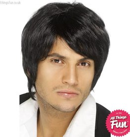 Smiffys Black Boy Band Wig