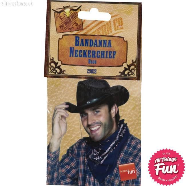 Smiffys Blue Western Bandana