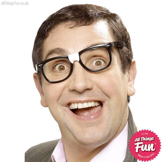 Smiffys Black Geek Glasses with Plaster
