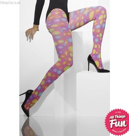 Smiffys *DISC* Pink Opaque Tights with Spots