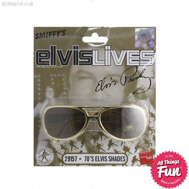 Smiffys Elvis Shades Gold