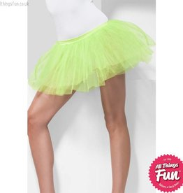 Smiffys Neon Green Tutu Underskirt with 4 Layers 30cm Long