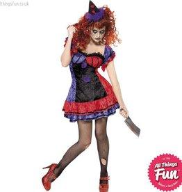 Smiffys Cirque Sinister Bo Bo the Clown Costume