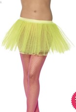 Smiffys Neon Yellow Tutu Underskirt with 4 Layers 30cm Long