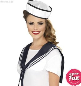 Smiffys Sailor White Scarf & Hat