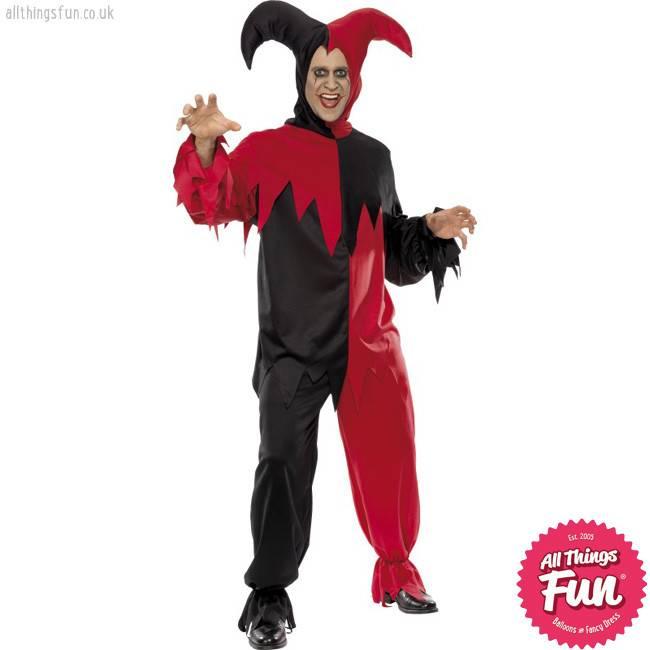 Smiffys Dark Jester Costume