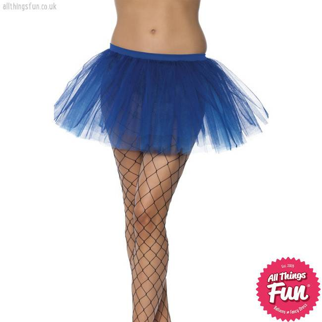 Smiffys Blue Tutu Underskirt with 4 Layers 30cm Long