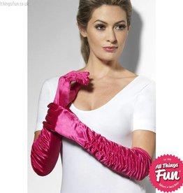 Smiffys *DISC* Long Fuchsia Temptress Gloves