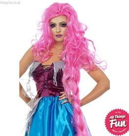 Smiffys Mangled Maiden Pink Wig