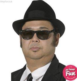 Smiffys *DISC* Blues Brothers Black Fedora Hat