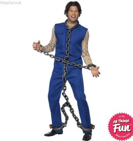 Smiffys Silver Full Body Shackle Convict Chains