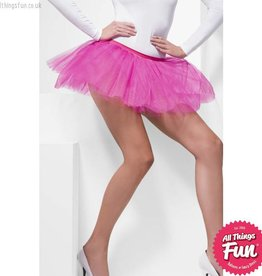 Smiffys Fuchsia Tutu Underskirt with 4 Layers 30cm Long