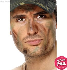 Smiffys Army Camouflage Make Up