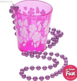 Smiffys Pink Shot Glass on Beads