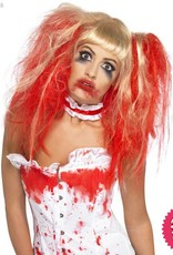 Smiffys Blonde Blood Drip Wig with Bunches