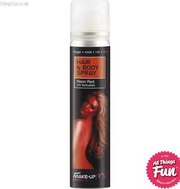 Smiffys UV Red Hair and Body Spray