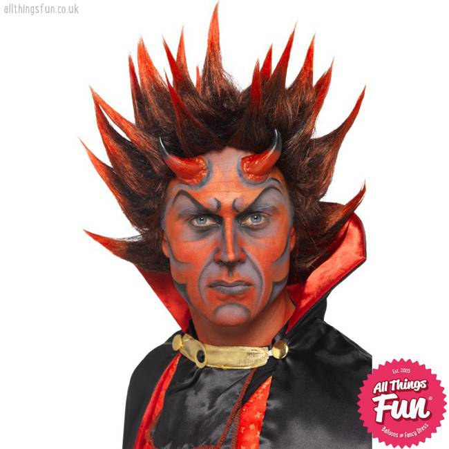 Smiffys Red & Black Devil Punky Wig