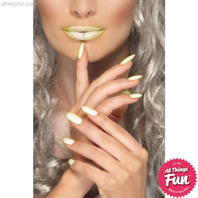 Smiffys Glow in the Dark Lipstick and Nail Polish Set