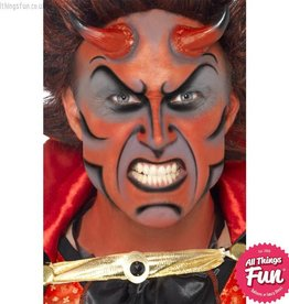 Smiffys *SP* Devil Make Up Kit with Paints, Horns & Sponge
