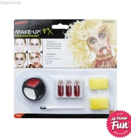 Smiffys Zombie Make Up Set with Paints, Blood Capsules & Sponge