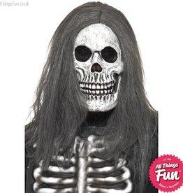 Smiffys Sinister Skeleton Overhead Foam Latex Mask with Hair