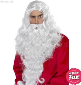 Smiffys Santa Long White Wig & Beard