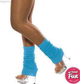 Smiffys Neon Blue Legwarmers