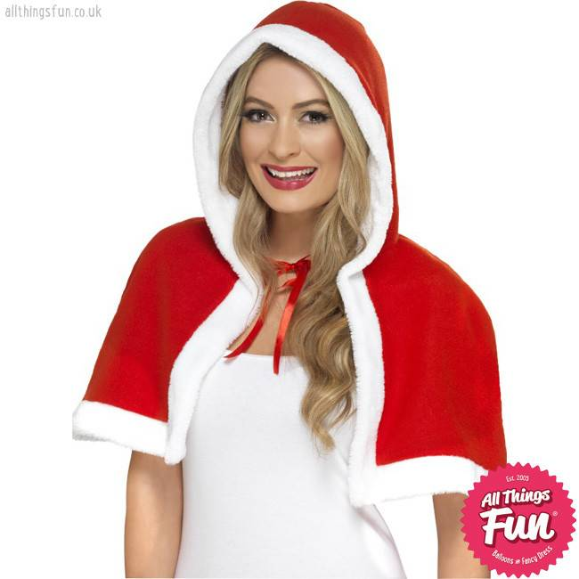 Smiffys Miss Claus Red Mini Cape