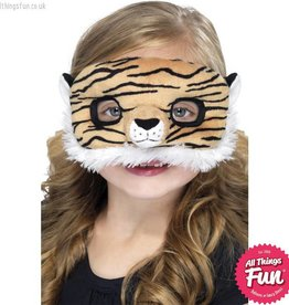 Smiffys *DISC* Child Plush Eyemask, Tiger