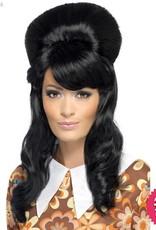 Smiffys 60's Black Brigitte Bouffant Wig
