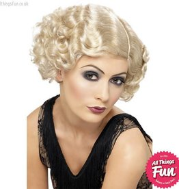 20's Blonde Flirty Flapper Wig