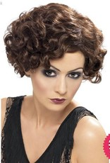 Smiffys 20's Brown Flirty Flapper Wig