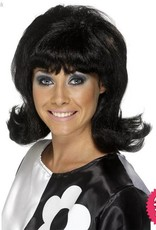Smiffys 60's Black Flick-Up Wig