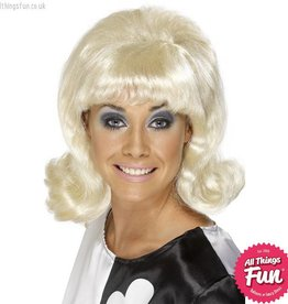 Smiffys 60's Blonde Flick-Up Wig