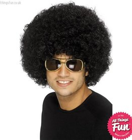 Smiffys 70's Black Funky Afro Wig