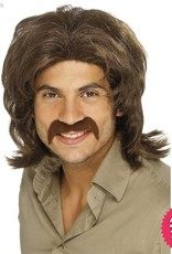 Smiffys 70's Brown Retro Wig