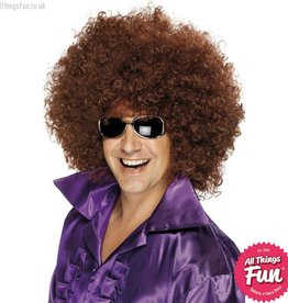 Smiffys Brown Mega Huge Afro Wig