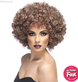 Smiffys Blonde & Brown Natural Afro Wig