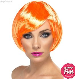 Smiffys Fire Coral Babe Wig