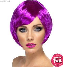 Smiffys Purple Babe Wig