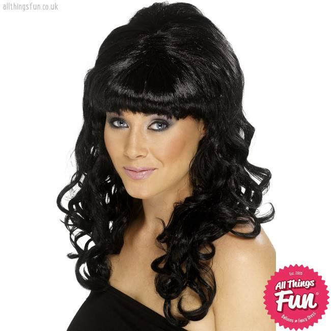Smiffys *DISC* Black Beehive Beauty Wig