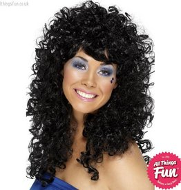 Smiffys Black Boogie Babe Wig