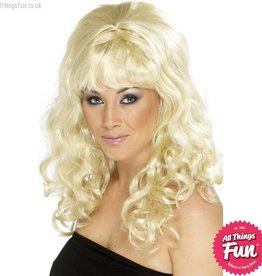 Smiffys Blonde Beehive Beauty Wig