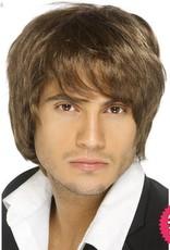 Smiffys Brown Boy Band Wig