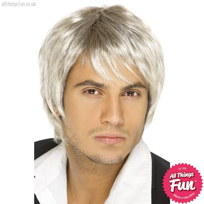Smiffys Blonde & Brown Boy Band Wig