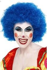 Smiffys Blue Crazy Clown Wig