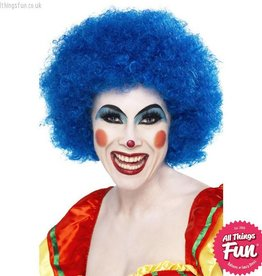 Smiffys Blue Crazy Clown Wig