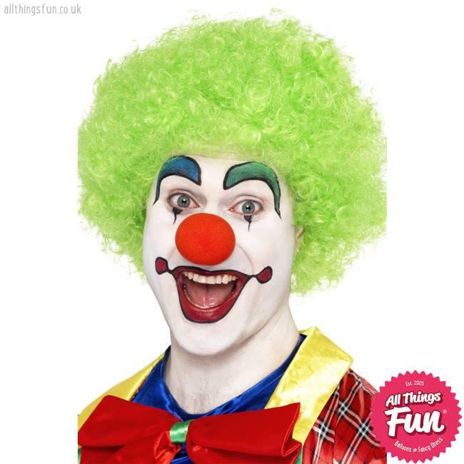 Smiffys Green Crazy Clown Wig