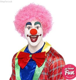 Smiffys Pink Crazy Clown Wig